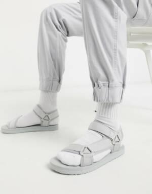ASOS DESIGN - Tech - Sandalen in grijs