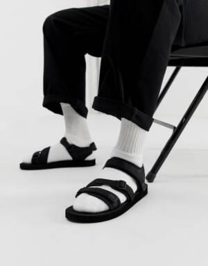 ASOS DESIGN - Tech sandalen met banden in zwart