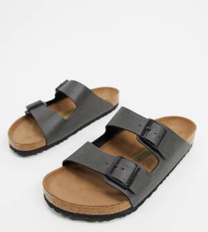 Birkenstock - Arizona - Vegan sandalen in antracietgrijs