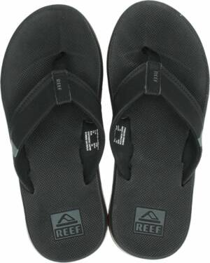 Reef Fanning 2.0 heren slipper - Zwart - Maat 47