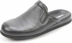 Rohde heren Pantoffels - leer - zwart - 6607-90 - Maat 47