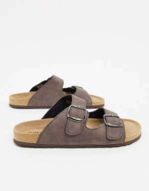 Dunlop - Sandalen in bruin met gesp