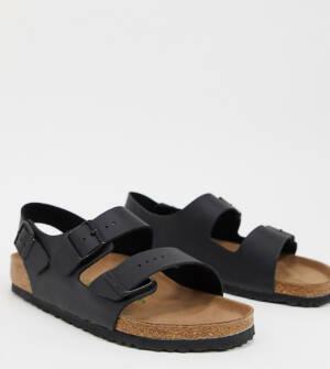 Birkenstocks - Milano - Vegan vriendelijke sandalen in zwart, exclusief bij ASOS
