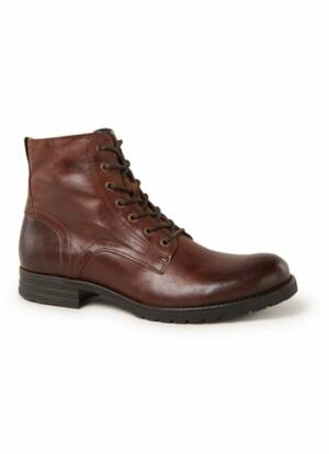 Dune London Cardif biker boot van leer