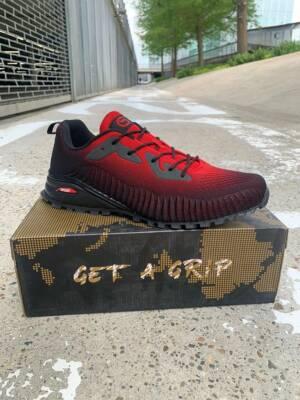 Corstiaensen-sneakers - Heren sneakers rood/zwart - Maat 50 EU