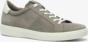 ECCO Soft Classic leren heren sneakers - Grijs - Maat 50