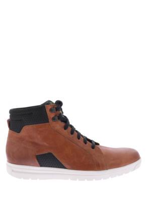 Gijs 2044 202E Cognac / Zwart E-Wijdte Veter boots