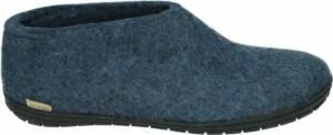 Glerups AR-10-02 - Volwassenen Heren pantoffels - Kleur: Blauw - Maat: 47