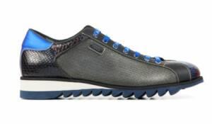 Harris Heren Sneakers in Leder (Blauw)