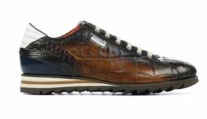 Harris Heren Sneakers in Leder (Bruin)