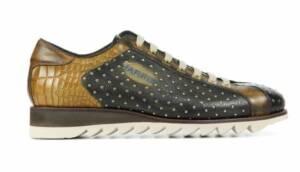 Harris Heren Sneakers in Leder (Groen)