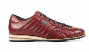 Harris Heren Sneakers in Leder (Rood)