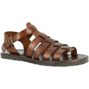 Leonardo Shoes Sandalen M5636 MARRONE