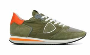 Philippe Model Heren Sneakers in Stof (Groen)