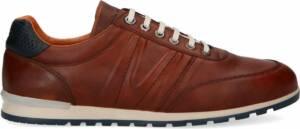 Van Lier - Heren - Cognac leren sneakers - Maat 47