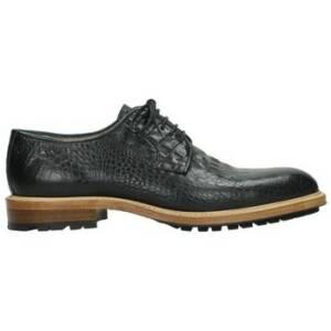 Wolky Nette schoenen 09403 Turin - 90000 zwart croco look leer