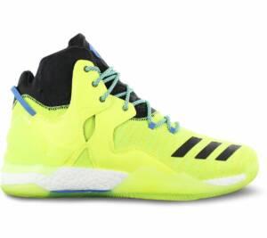 adidas Derrick D Rose 7 Primeknit AQ7215 Heren Basketbalschoenen Sportschoenen Sneaker Gelb - Maat EU 50 2/3 UK 14.5