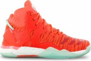adidas Derrick D Rose 7 Primeknit AQ7743 Heren Basketbalschoenen Sportschoenen Sneaker Rood - Maat EU 53 1/3 UK 17