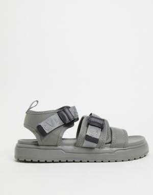 ASOS DESIGN - Sportieve tech sandalen in grijs