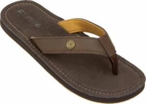 Cool Shoe Teenslippers Pilat Heren Leer Donkerbruin Maat 46