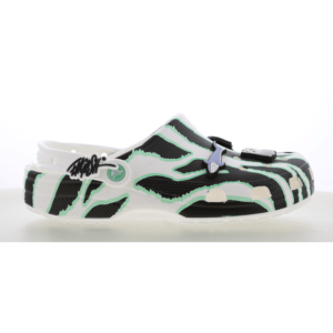 Crocs Clog - Heren Slippers en Sandalen - White - Leer - Maat 47-48 - Foot Locker
