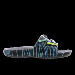Crocs Slide - Heren Slippers en Sandalen - Black - Leer - Maat 46-47 - Foot Locker