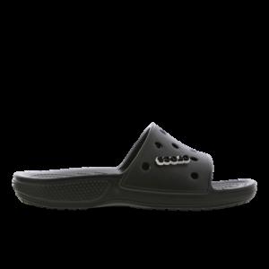Crocs Slide - Heren Slippers en Sandalen - Black - Leer - Maat 47-48 - Foot Locker