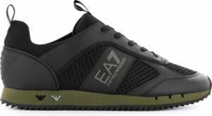EA7 EMPORIO ARMANI Lifestyle - Heren Sneakers Sport Casual Schoenen Zwart X8X027-XK050-N167 - Maat EU 47 UK 12