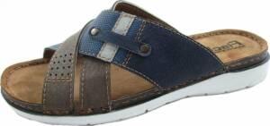 Fischer - Slippers Heren - Leer - Blauw - Maat 46