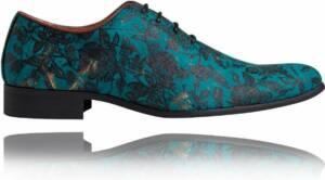 Flairy Green - Maat 48 - Lureaux - Kleurrijke Schoenen Voor Heren - Veterschoenen Met Print