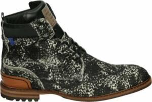 Floris van Bommel 20058 - Volwassenen Heren sneakersVrije tijd half-hoog - Kleur: Zwart - Maat: 47