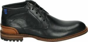 Floris van Bommel 20102 - Volwassenen Heren sneakersVrije tijd half-hoog - Kleur: Zwart - Maat: 47