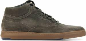 Floris van Bommel Mannen Suède Hoge sneakers / Herenschoenen 20325 - Taupe - Maat 47