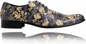 Goldence - Maat 47 - Lureaux - Kleurrijke Schoenen Voor Heren - Veterschoenen Met Print