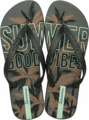 Ipanema Summer Heren Slippers - Green/Brown - Maat 47/48