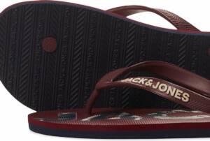 JACK&JONES FOOTWEAR JFWPRINT LOGO FLIP FLOP PACK Heren Slippers - Maat 46/47