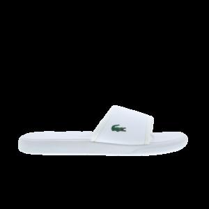 Lacoste Croco Slide - Heren Slippers en Sandalen - White - Synthetisch - Maat 47 - Foot Locker