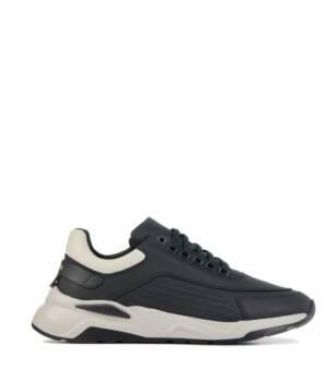 Nubikk Heren Sneakers in Leder (Zwart)