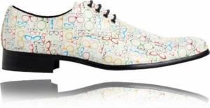 Opticians - Maat 47 - Lureaux - Kleurrijke Schoenen Voor Heren - Veterschoenen Met Print