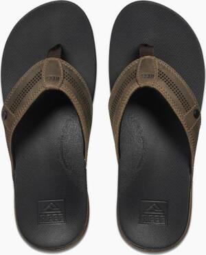 Reef Heren Slippers Cushion Lux - Tan Black 46