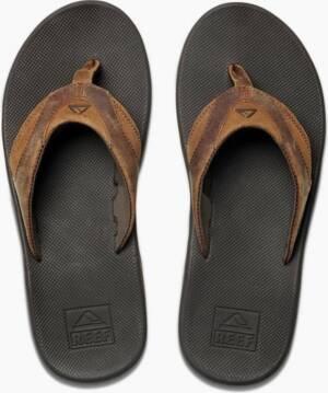 Reef Leather Fanning Heren Slippers - Bruin - Maat 47