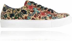 Sand Flower Sneakers - Maat 47 - Lureaux - Kleurrijke Sneakers - Sneakers Met Print - Unisex - Lureaux - Kleurrijke Schoenen Voor Heren - Veterschoenen Met Print