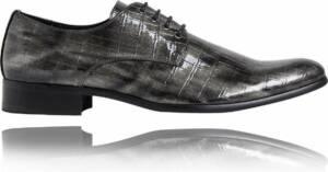 Silverback Croco - Maat 48 - Lureaux - Kleurrijke Schoenen Voor Heren - Veterschoenen Met Print