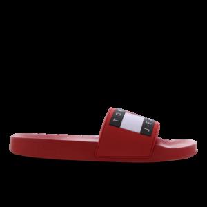 Tommy Jeans Flag Pool Slide - Heren Slippers en Sandalen - Red - Mesh/Synthetisch - Maat 47 - Foot Locker