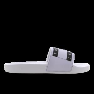 Tommy Jeans Flag Pool Slide - Heren Slippers en Sandalen - White - Mesh/Synthetisch - Maat 47 - Foot Locker
