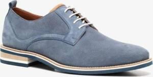 Van Beers leren heren veterschoenen - Blauw - Maat 46