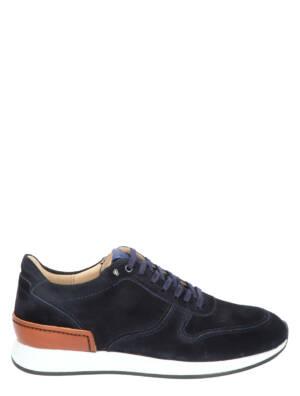 Van Bommel 16334 04 Dark Blue Suede G+ Wijdte Veterschoenen