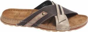 Venice Heren Bruine slipper leren voetbed - Maat 46