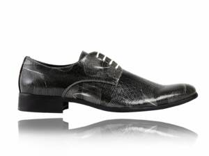 Abstract Black - Lureaux - Handgemaakte Nette Schoenen Voor Heren