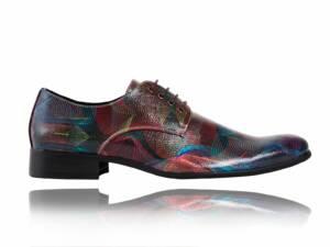 Abstract Red - Lureaux - Handgemaakte Nette Schoenen Voor Heren